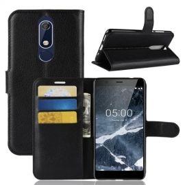 Book Case Nokia 5.1 Hoesje - Zwart
