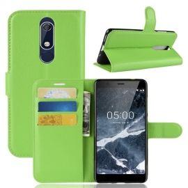 Book Case Nokia 5.1 Hoesje - Groen