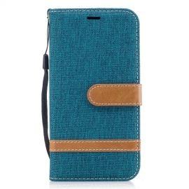 Denim Book Case Samsung Galaxy J3 (2017) Hoesje - Groen
