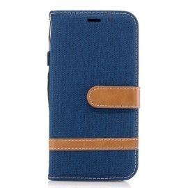 Denim Book Case Samsung Galaxy J3 (2017) Hoesje - Blauw
