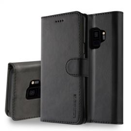 Luxe Book Case Samsung Galaxy S9 Hoesje - Zwart