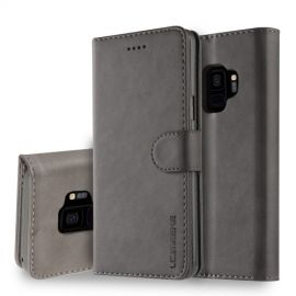Luxe Book Case Samsung Galaxy S9 Hoesje - Grijs