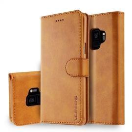Luxe Book Case Samsung Galaxy S9 Hoesje - Bruin