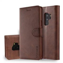 Luxe Book Case Samsung Galaxy S9 Plus Hoesje - Donkerbruin