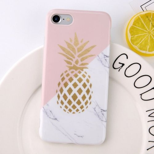 Marmer Pineapple TPU iPhone 6 / 6s Hoesje