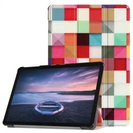 Smart Book Case Samsung Galaxy Tab S4 10.5 Hoesje - Squares
