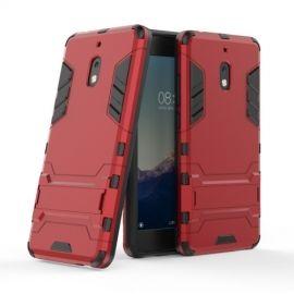 Armor Kickstand Nokia 2.1 Hoesje - Rood