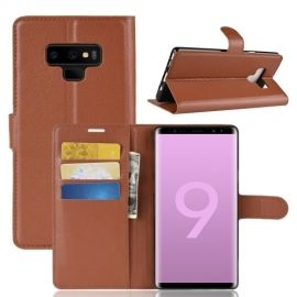 Book Case Samsung Galaxy Note 9 Hoesje - Bruin