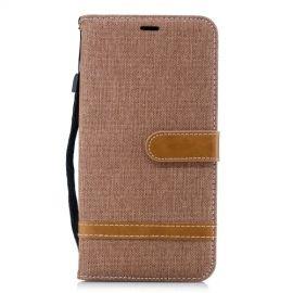 Denim Book Case iPhone Xs Max Hoesje - Khaki