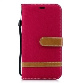 Denim Book Case iPhone Xr Hoesje - Rood