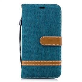 Denim Book Case iPhone Xr Hoesje - Groen