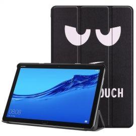 Tri-Fold Book Case Huawei MediaPad M5 Lite 10 Hoesje - Don't Touch