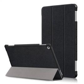 Tri-Fold Book Case Huawei MediaPad M5 Lite 10 Hoesje - Zwart
