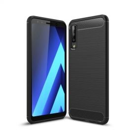 Armor Brushed TPU Samsung Galaxy A7 (2018) Hoesje - Zwart