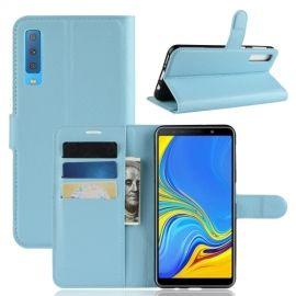 Book Case Samsung Galaxy A7 (2018) Hoesje - Lichtblauw