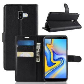 Book Case Samsung Galaxy J6 Plus Hoesje - Zwart
