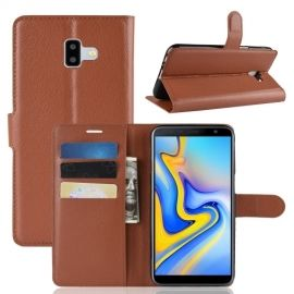 Book Case Samsung Galaxy J6 Plus Hoesje - Bruin