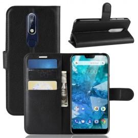Book Case Nokia 7.1 Hoesje - Zwart