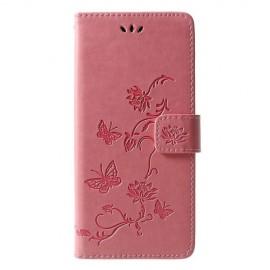 Book Case Bloemen Samsung Galaxy J6 Plus Hoesje - Pink