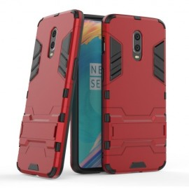 Armor Kickstand OnePlus 6T Hoesje - Rood
