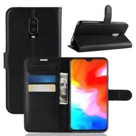Book Case OnePlus 6T Hoesje - Zwart