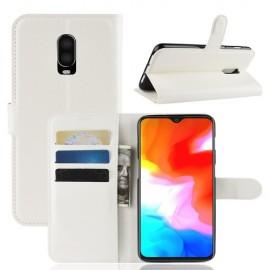 Book Case OnePlus 6T Hoesje - Wit