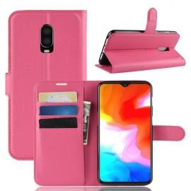 Book Case OnePlus 6T Hoesje - Roze