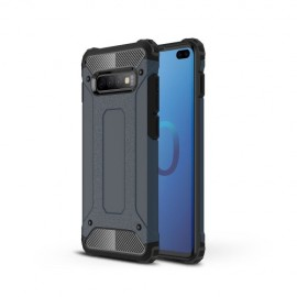 Armor Hybrid Samsung Galaxy S10 Plus Hoesje - Donkerblauw