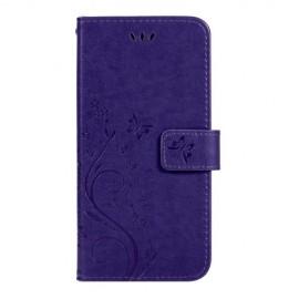 Bloemen Book Case Samsung Galaxy S10e Hoesje - Paars
