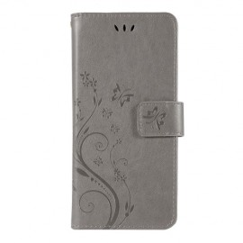 Bloemen Book Case Samsung Galaxy S10 Hoesje - Grijs