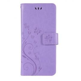Bloemen Book Case Samsung Galaxy S10 Hoesje - Paars
