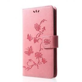 Bloemen Book Case Huawei P30 Lite Hoesje - Pink