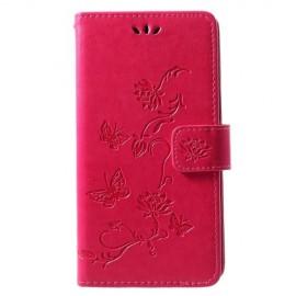 Bloemen Book Case Huawei P30 Lite Hoesje - Roze
