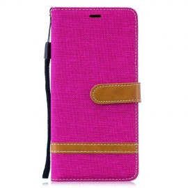 Denim Book Case Samsung Galaxy S10 Plus Hoesje - Roze