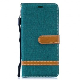 Denim Book Case Samsung Galaxy S10 Plus Hoesje - Groen