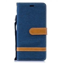 Denim Book Case Samsung Galaxy S10 Hoesje - Blauw