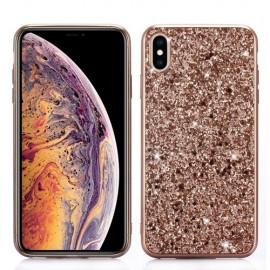 Glitter TPU iPhone XS Max Hoesje - Rose Gold