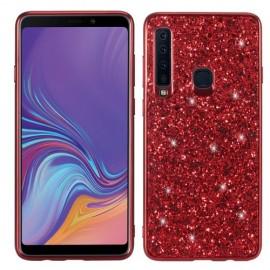 Glitter TPU Samsung Galaxy A9 (2018) Hoesje - Rood