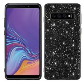 Glitter TPU Samsung Galaxy S10 Hoesje - Zwart