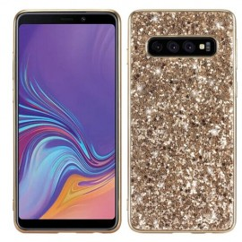 Glitter TPU Samsung Galaxy S10 Hoesje - Goud