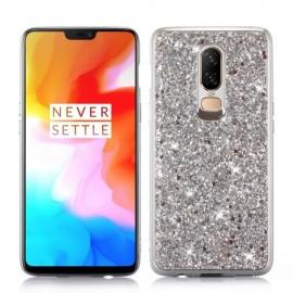 Glitter TPU OnePlus 6 Hoesje - Zilver