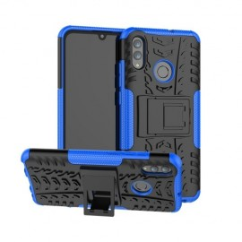 Rugged Kickstand Huawei P Smart (2019) Hoesje - Blauw