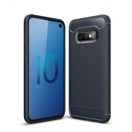 Armor Brushed TPU Samsung Galaxy S10e Hoesje - Blauw