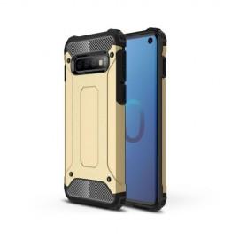Armor Hybrid Samsung Galaxy S10 Hoesje - Goud