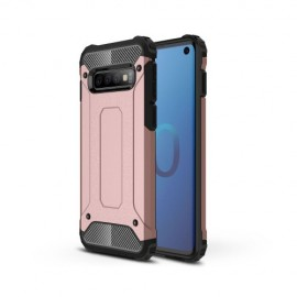 Armor Hybrid Samsung Galaxy S10 Hoesje - Rose Gold