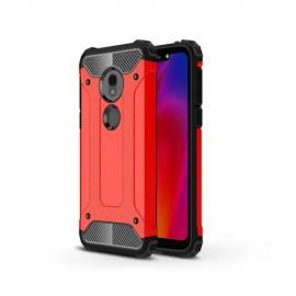 Armor Hybrid Motorola G7 Play Hoesje - Rood