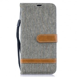 Denim Book Case Samsung Galaxy A50 / A30s Hoesje - Grijs