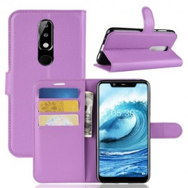 Book Case Nokia 5.1 Plus Hoesje - Paars