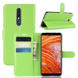 Book Case Nokia 3.1 Plus Hoesje - Groen