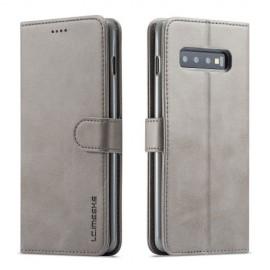 Luxe Book Case Samsung Galaxy S10 Hoesje - Grijs